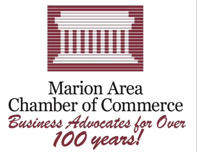 Marion Area Chamber of Commerce maroon and black logo Over 100 years-01 (002)